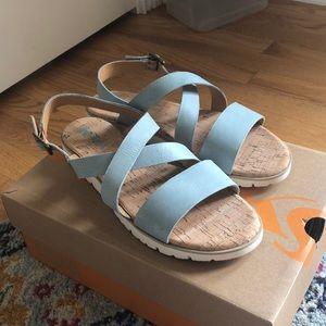 NIB Korea Sindre Blue Sandal